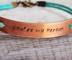 Mint bracelet, You re my person bracelet mint leather, quote bracelet, personalized engraved bracelet jewelry | Personalized Bracelets | Custom Necklace | Wholesale craft supplies - Turntopretty