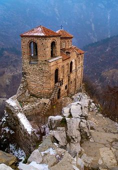 The Church of the Holy Mother of God of Asenovata Krepost near Asenovgrad, Bulgaria is part of a fortress of one of Bulgaria's most famous kings, Ivan Asen II. It is still in regular use as a Bulgarian Orthodox church.