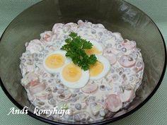 Virslis - majonézes lencsesaláta - Andi konyhája - Sütemény és ételreceptek képekkel
