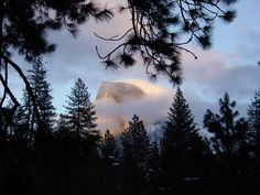 Sunset at Half Dome x xpost from rpics #landscape #sunset #half #dome #xpost #rpics