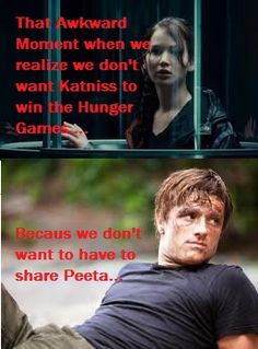 The Hunger Games: Funny: Katniss: Katniss everdeen: Peeta: Peeta Mellark: Comics: Hunger Games Awkward Moment of Truth... by TributeCI.deviantart.com on @deviantART
