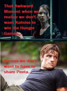 The Hunger Games: Funny: Katniss: Katniss everdeen: Peeta: Peeta Mellark: Comics: Hunger Games Awkward Moment of Truth... by TributeCI.deviantart.com on @deviantART