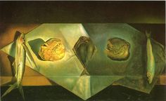 """""""Eucharistic Still Life"""" (Spain, oil on canvas By Salvador Dali Salvador Dali Gemälde, Salvador Dali Paintings, Magritte, Catalogue Raisonne, Gallery Of Modern Art, Asian Art Museum, Les Religions, Upcoming Artists, Philadelphia Museum Of Art"""