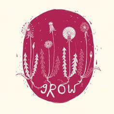 (1/3) Grow | Art by Kathrin Honesta (@kathrinhonestaa)