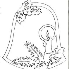 Decoration of windows on Christmas and New Year. And stencils. - Club New Year's Ideas and Prepare sleighs in summer. Christmas Paper, Christmas Bells, Christmas Colors, Christmas Projects, Christmas Stencils, Christmas Templates, Christmas Printables, Kirigami Patterns, Paper Art