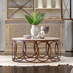 Can I turn this into a pendant light? Gabby Furniture Ella Coffee Table @LaylaGrayce