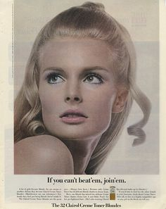 1960s Clairol. ADSAUSAGE - vintage advertising library. Vintage Makeup, Vintage Beauty, Beauty Ad, Beauty Makeup, High Class Fashion, Dragon Dreaming, Self Design, Model Outfits, Makeup Inspiration