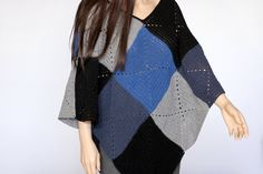 Popular items for granny square poncho on Etsy