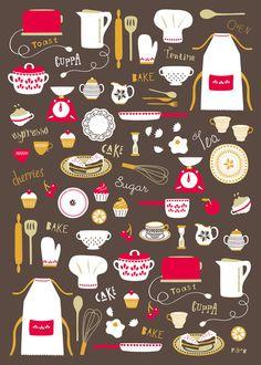 Teatime Treat Art Print by Poppy & Red