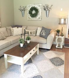 33 rustic farmhouse living room design and decor ideas for your home 1 New Living Room, My New Room, Home And Living, Small Living Rooms, Tiny Living, Living Area, Modern Farmhouse Living Room Decor, Modern Living, Simple Living Room Decor