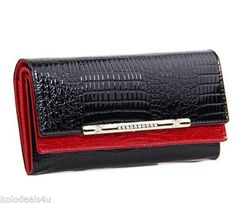 Womens-genuine-leather-large-wallet-with-crocodile-skin-design-ladies-purse