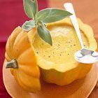 Acorn Squash Soup - I Love Acorn Squash~  How pretty is this?