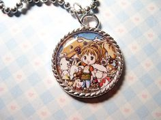 Harvest Moon Video Game Cameo Pendant Necklace Ohmygosh I love this!!!