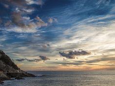 Tramonto sul Mar Ligure visto dal molo del Porto di Sestri Levante, Genoa Italy  Sunset over the Ligurian Sea at Sestri Levante by Maranatha.it Photography on 500px