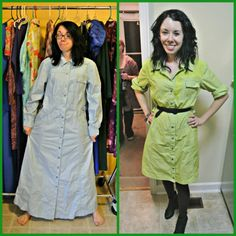 This young lady takes old thrift store clothes and with a little clip and tuck, she refurbishes them into stylish modern looks and saves herself a TON of money!!