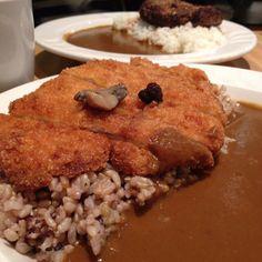 Chicken katsu curry brown rice.