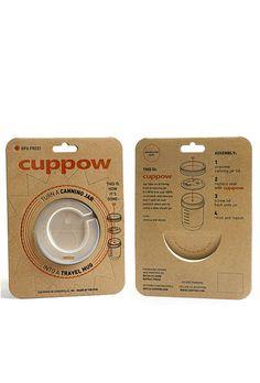 Cuppow--turn a mason jar into a travel mug @Sherri Petersmark