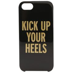Kate Spade New York Kick Up Your Heels Resin iPhone Case ($16) ❤ liked on Polyvore featuring accessories, tech accessories, phone cases, phone, cases, electronics, iphone sleeve case, kate spade, kate spade iphone case e iphone cover case