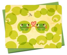 french frogs by Night Owl Paper Goods -