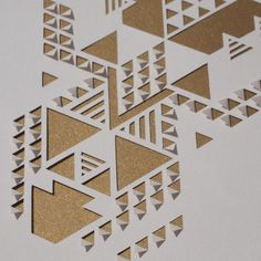 Bronze and Peach Geometric Papercut - Sarah Louise Matthews.