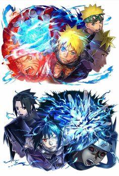 Naruto y Sasuke Naruto Shippuden Anime, Naruto Fan Art, Naruto Drawings, Naruto Vs Sasuke, Naruto And Sasuke Wallpaper, Naruto Minato, Anime, Naruto Pictures