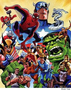 Marvel Heroes by Bruce Timm