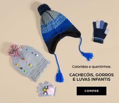 Kit Gorro E Luva Unissex Bebê Em Tricô Com Detalhe Que Imita Orelha Puc  3b31c0ac0ef