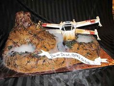 Star Wars X-Wing Fighter cake by Luscious Layers Bakery Star Wars Birthday, 9th Birthday, Star Wars Cake, Cake Wrecks, Incredible Edibles, Totally Awesome, Cake Creations, First Night, Amazing Cakes