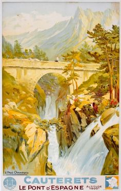Cauterets Chamseix, 1930s - original vintage poster by E. Paul Champseix listed on AntikBar.co.uk