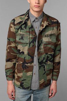 Urban Renewal Vintage Oversized Camo Jacket