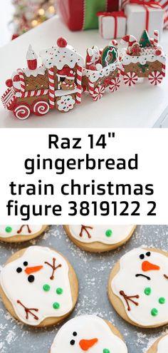 Raz gingerbread train christmas figure 3819122 2 - New Ideas Cake Mix Cookie Recipes, Cake Mix Cookies, Gingerbread Train, Gingerbread Houses, Traditional Christmas Cookies, Snowman Cookies, Homemade Cookies, Christmas Baking, Simple Christmas