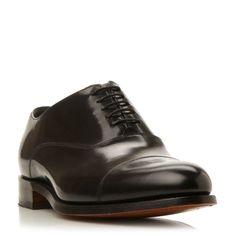 Barker Winsford High Shine Leather Toe Cap Shoe, Black