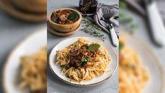 Η συνταγή της ημέρας: Πλούσιο σπαγγέτι με ραγού μανιταριών Risotto, Ethnic Recipes, Food, Essen, Meals, Yemek, Eten