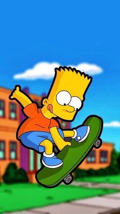Aí caramba the simpsons bart skateboard phone wallpaper background for iphone and android ipad. Homer Simpson, Simpson Wallpaper Iphone, Cartoon Wallpaper, Iphone Wallpaper, Cell Phone Wallpapers, Wallpaper Desktop, Cartoon Art, Cartoon Characters, Cute Wallpapers