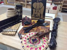 Objects from Africa- Africa Continent Box- Trillium Montessori