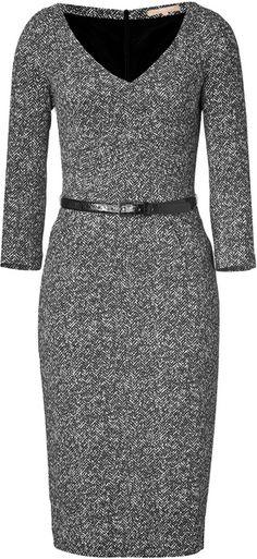 Michael Kors - Blackivory Belted Dress