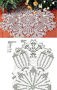 Crochet Doily Diagram, Crochet Mandala Pattern, Crochet Circles, Crochet Doily Patterns, Crochet Chart, Thread Crochet, Filet Crochet, Crochet Designs, Crochet Needles