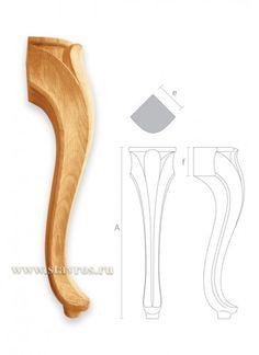 гнутая мебельная ножка MN-020