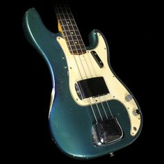 Used 1966 Fender Precision Bass Electric Bass Lake Placid Blue