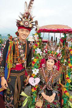 Paiwan Aboriginal Groom and Bride, Taiwan