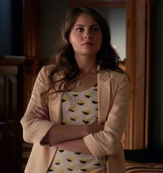 """Thea Queen is spotted wearing the BDG Printed Scoop Neck Tee on Season 1, Episode 2 """"Honor Thy Father"""" on """"Arrow"""""""