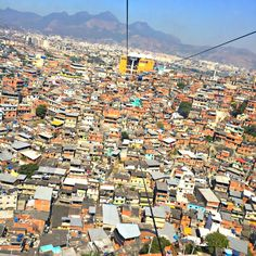 Cable car view of the Favela
