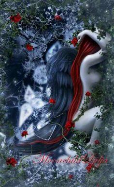 Dark fallen angel gothic fantasy angels