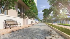 Khu công viên cây xanh của dự án First Home Premium