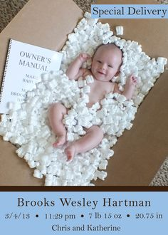 Funny baby birth announcement special delivery just arrived #birthannouncement #baby #funny