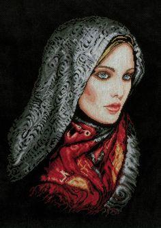 Woman In Veil Cross Stitch Kit - £59.00 on Past Impressions | by Lanarte