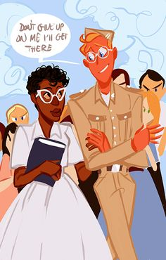I NEED TO PIN THIS AGAIN, BECAUSE I REALIZED HE'S TALKING TO HER AS A NATION, HE'S SO CUTE ASDFGHJKL//15 year old Elizabeth Eckford of the Little Rock Nine being escorted by 101st Airborne Division America. (I pick Eckford because she in most of the pictures and she got a BA in history.)<<IM NOT READY FOR THIS KIND OF EMOTIONAL PAIN