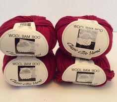 Classic Elite Wool Bam Boo Yarn Lot 4 Skein Wool Bamboo Blend Havana Red 1641    eBay