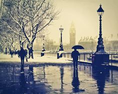 London photography Rain British London Art Umbrella by LondonDream  - I love London. So beautiful.