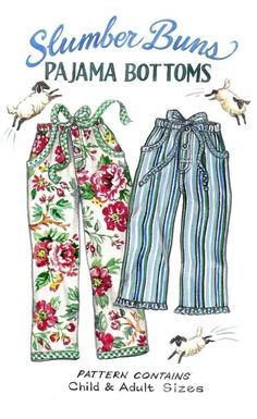 Slumber Buns Pajama Bottoms Pattern by by paisleypincushion, $10.50